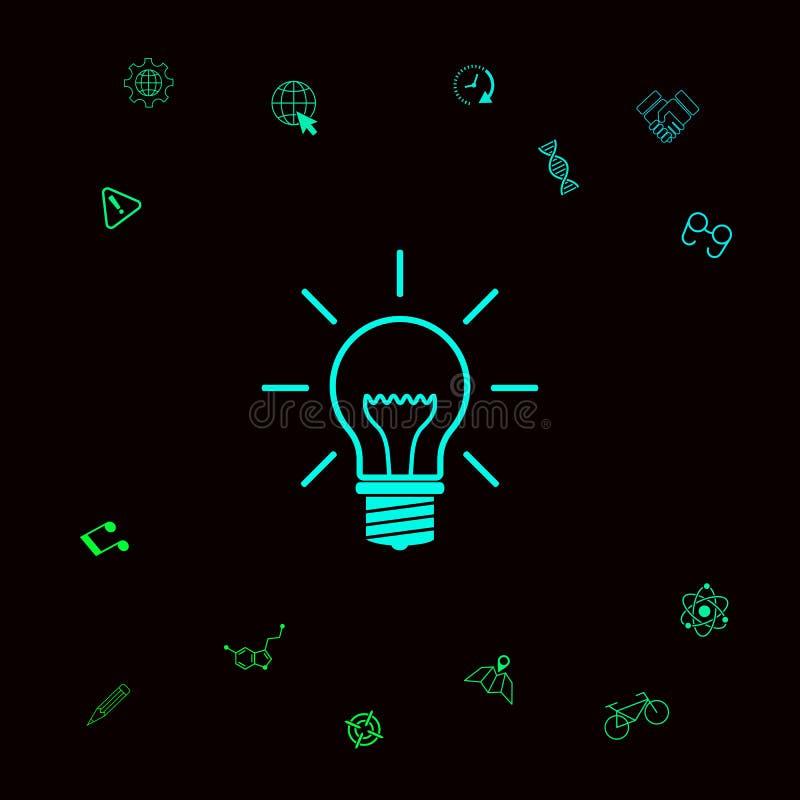 Żarówka - nowi pomysły Graficzni elementy dla twój designt ilustracji