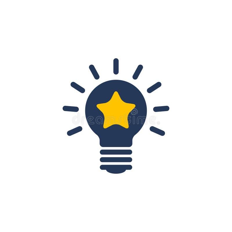 Żarówka pomysłów ikony wektor ilustracja wektor