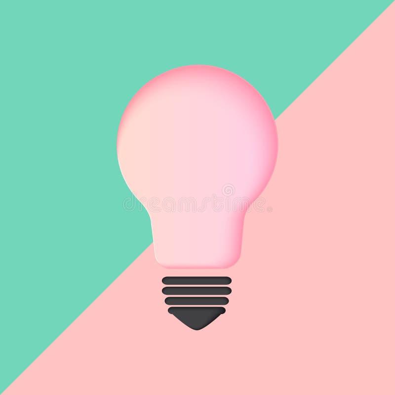 Żarówka pomysłu pojęcia kreatywnie ikona z minimalnym stylem ilustracji