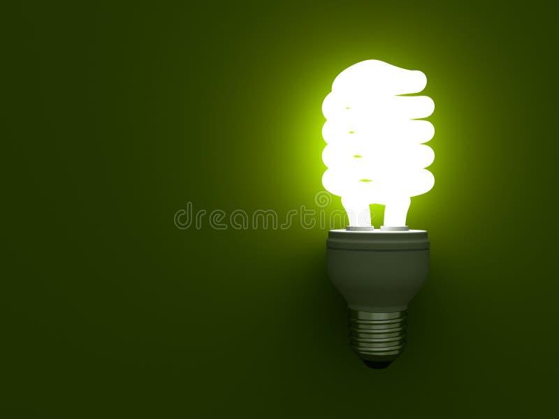 żarówki ścisłego eco energetyczny fluorescencyjnego światła oszczędzanie ilustracji