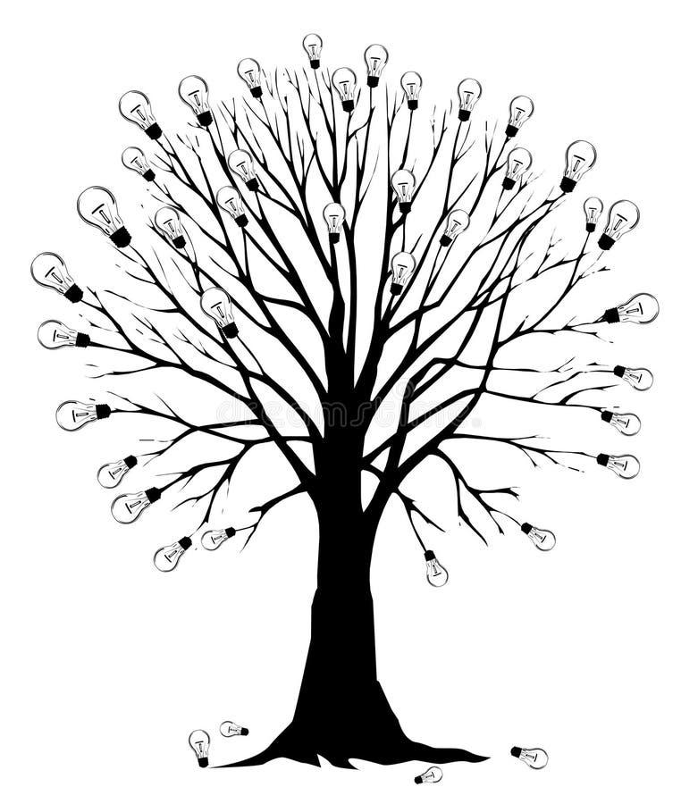 żarówki światła drzewo royalty ilustracja