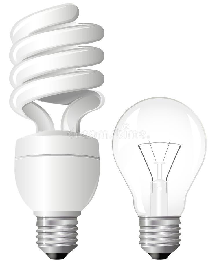 żarówki światło dwa royalty ilustracja