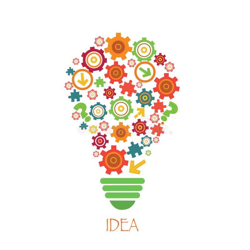 Download żarówki Abstrakcyjne światło Ilustracja Wektor - Ilustracja złożonej z łamigłówka, pokój: 53776812