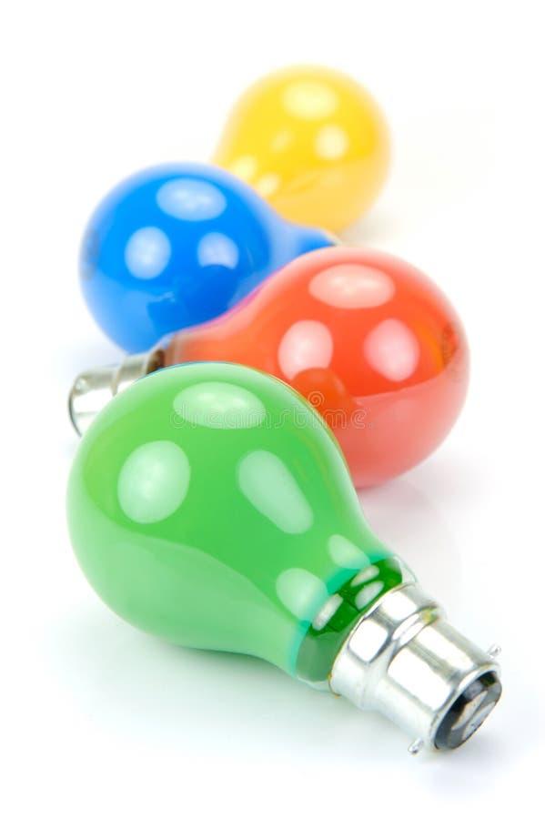 żarówki barwiący światło zdjęcia stock