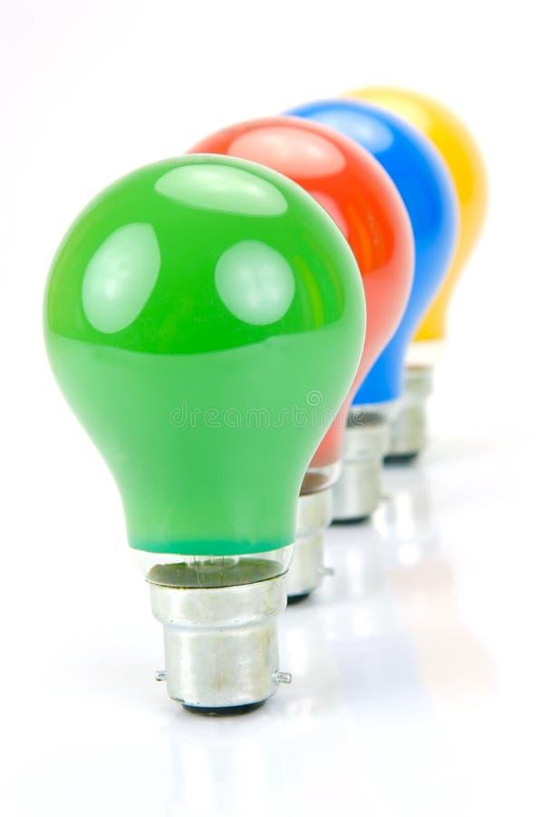 żarówki barwiący światło zdjęcie stock