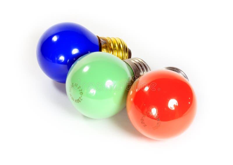 żarówki barwili elektrycznego obrazy stock