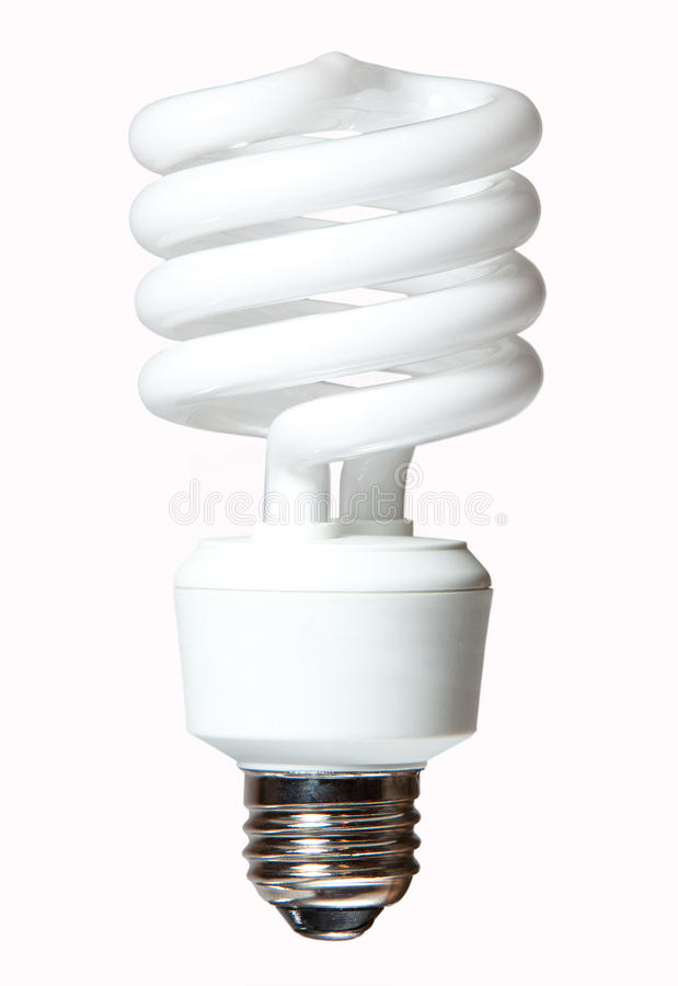 żarówki cfl światło zdjęcie stock