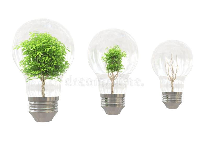 żarówki drzewo ilustracji