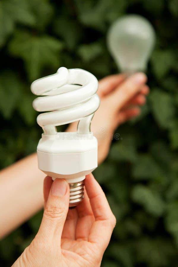 żarówki energii światła oszczędzanie zdjęcia stock