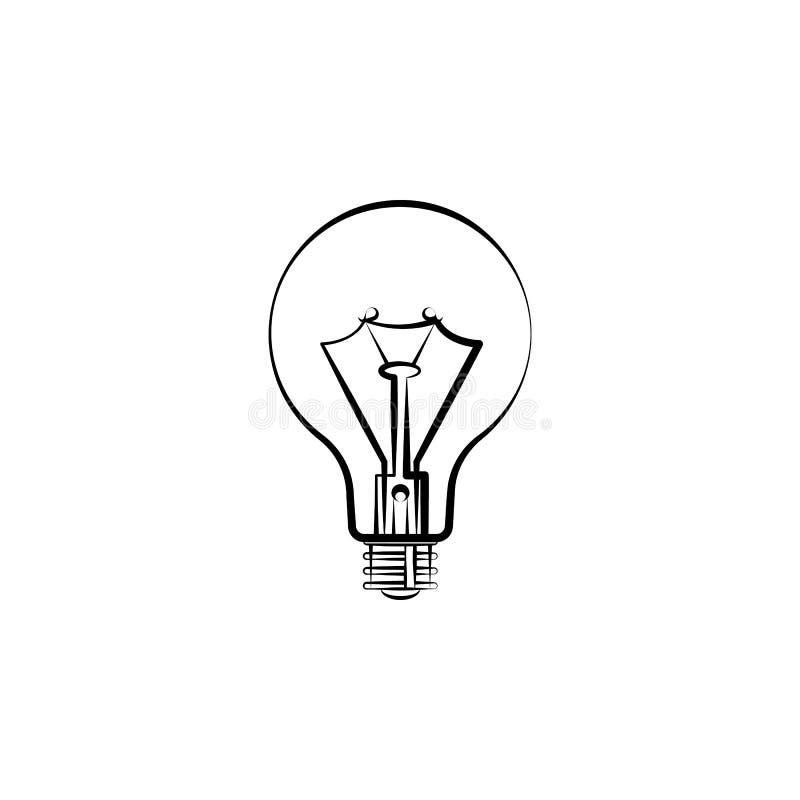 Żarówki ikona Element oświetleniowa ikona Cienka kreskowa ikona dla strona internetowa projekta i rozwoju, app rozwój ikony premi ilustracji