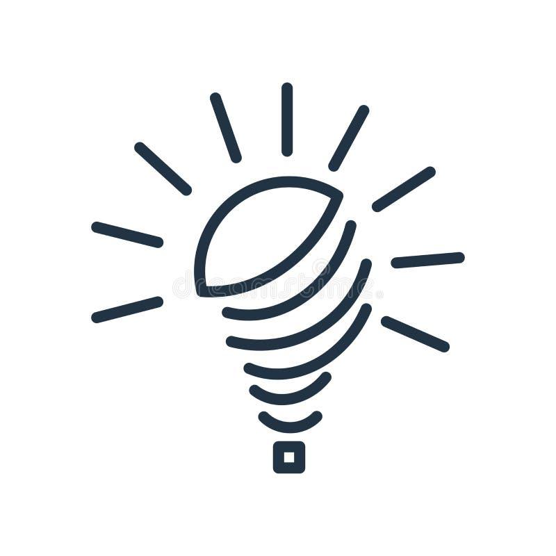 Żarówki ikony wektor odizolowywający na białym tle, żarówka znak ilustracja wektor
