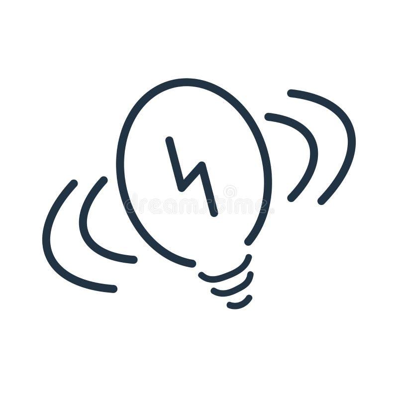 Żarówki ikony wektor odizolowywający na białym tle, żarówka znak royalty ilustracja