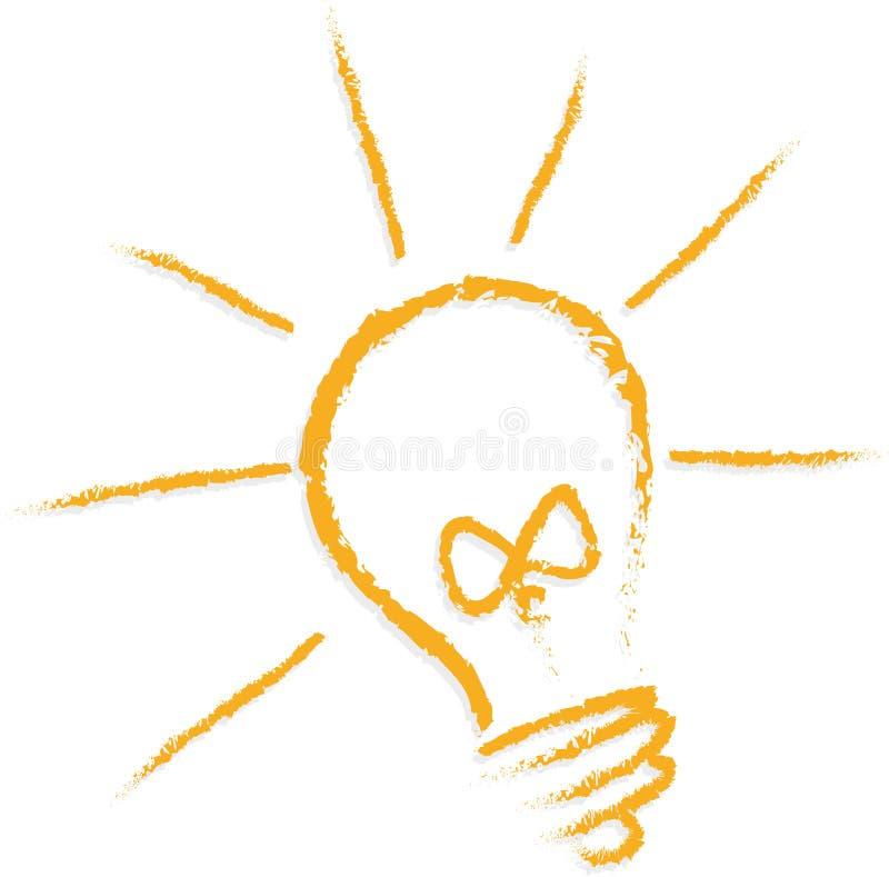 żarówki inkasowego projekta elementów ikon pomysłu światła loga ustalony szablonu wektor royalty ilustracja