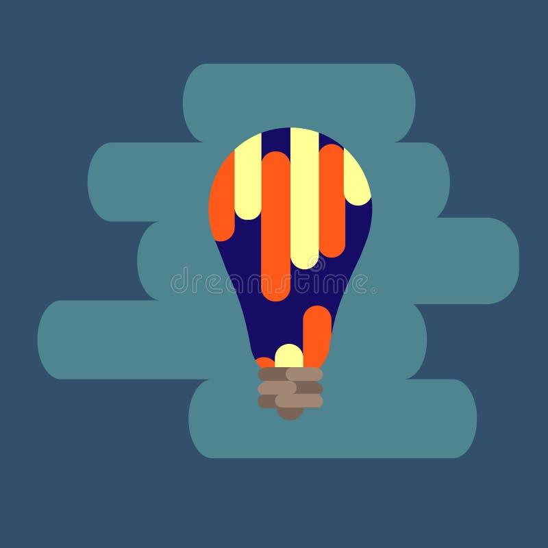 Żarówki kreskowa ikona, odizolowywająca na białym tle Pomysłu znak, rozwiązanie, myślący pojęcie Oświetleniowa Elektryczna lampa  ilustracji