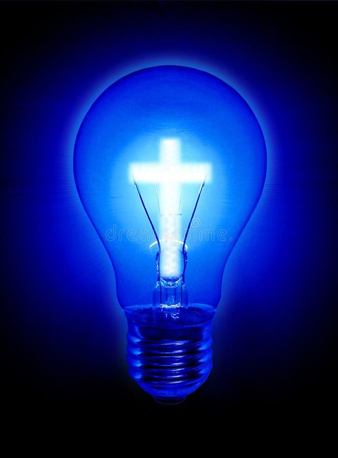 żarówki krzyża światła religia ilustracja wektor