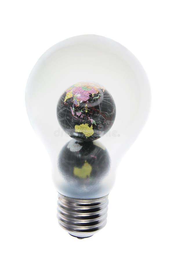 żarówki kuli ziemskiej światło zdjęcia stock