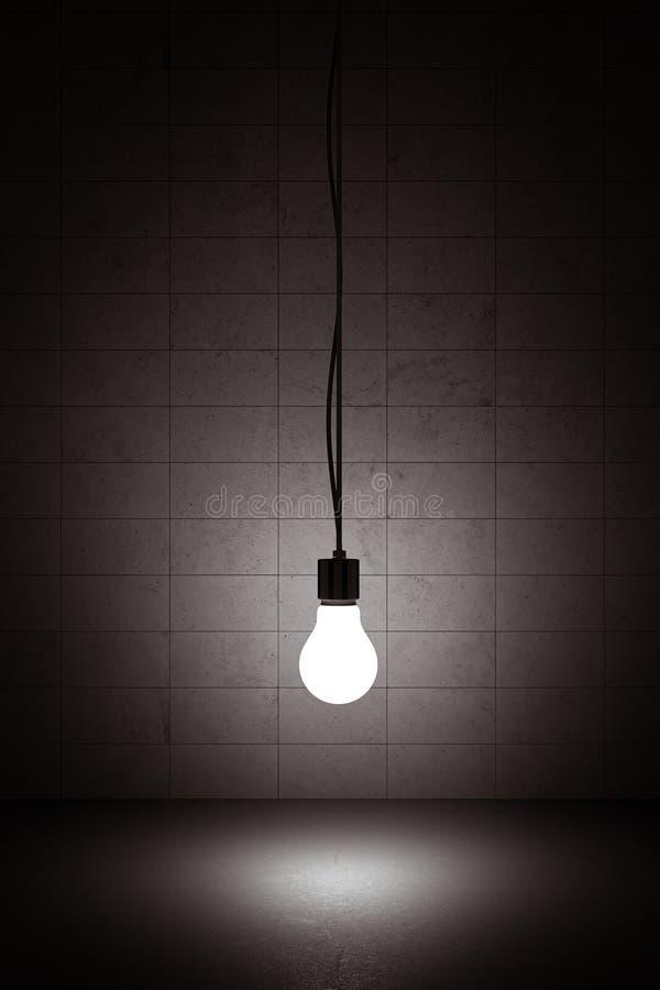 żarówki obwieszenia światło ilustracja wektor