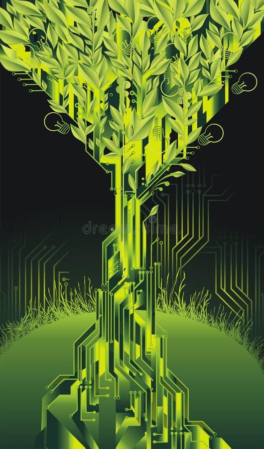żarówki obwodu światła drzewo royalty ilustracja