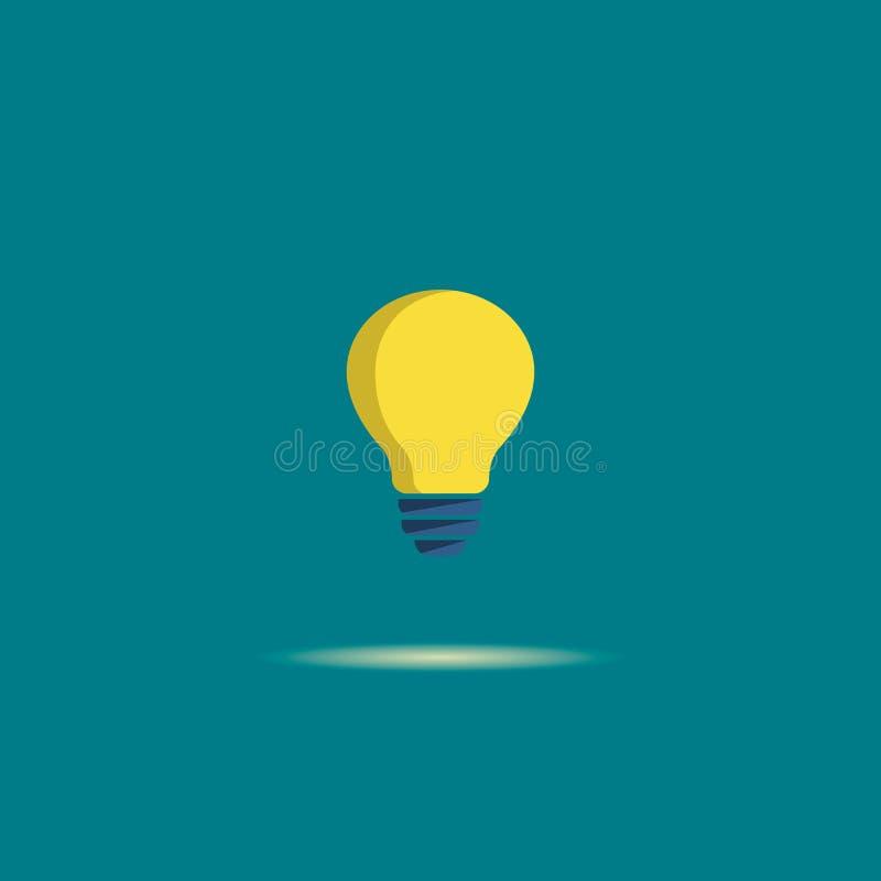 Żarówki płaska wektorowa ikona Lampa znak poj?cia pod??czeniowi pomys?u internety dzier?awi?ca linia usb Wektorowy koloru symbol royalty ilustracja