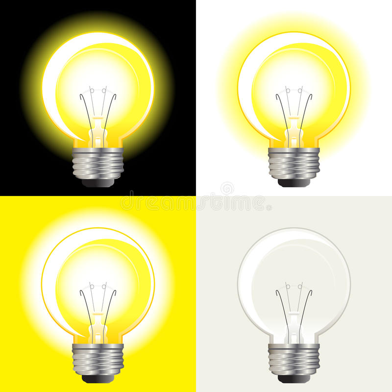 żarówki pomysłów światło ilustracja wektor