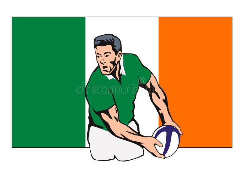 żarnik kulowego zawodnika rugby ilustracji