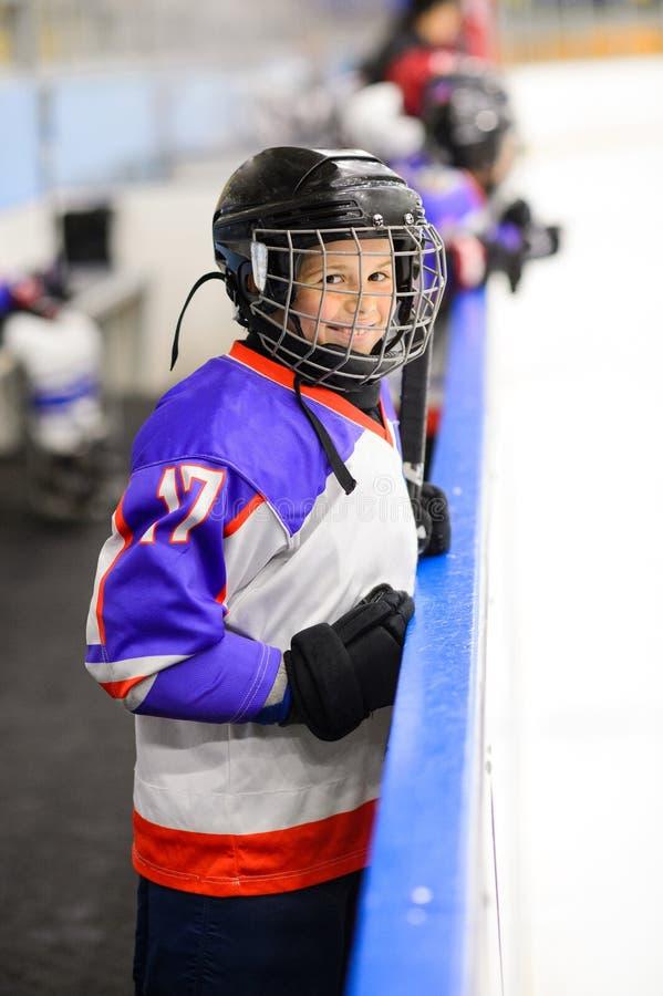 Żartuje lodowego hokeja fotografia royalty free
