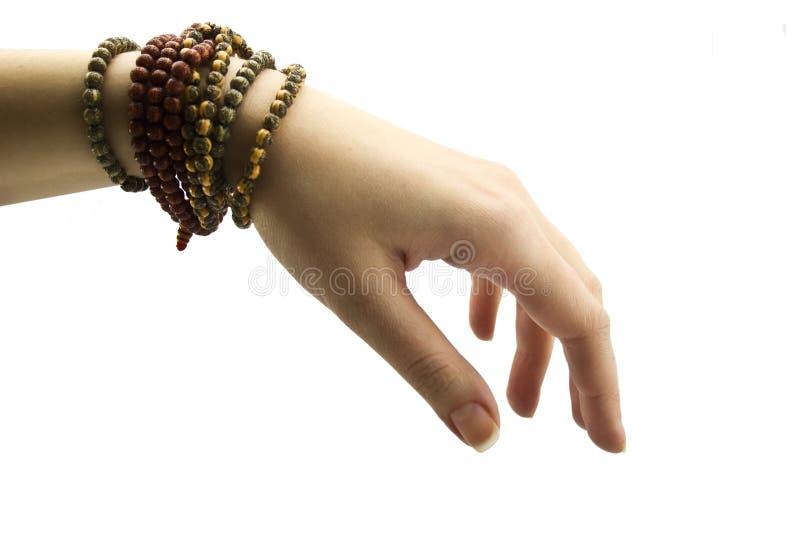 żeńska bransoletki ręka fotografia stock