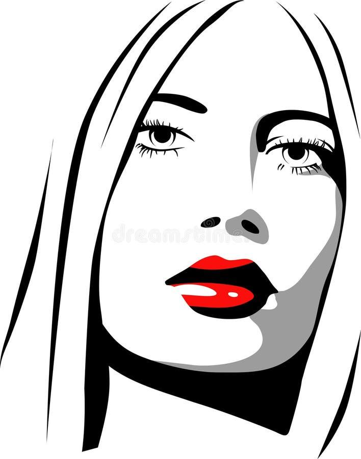żeńska ikona royalty ilustracja