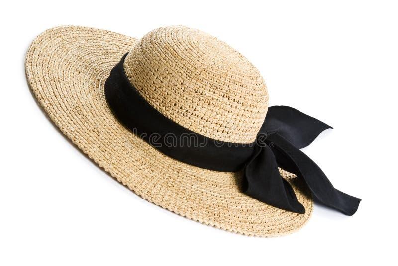 żeńska kapeluszowa słoma obraz stock