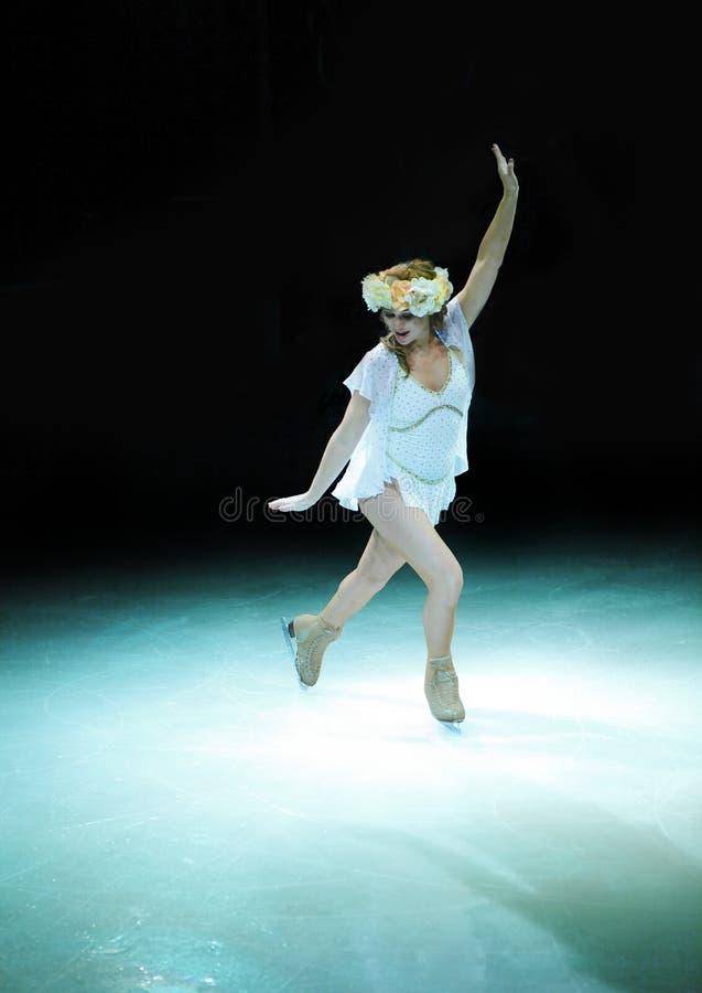 żeńska lodowa łyżwiarka obraz royalty free