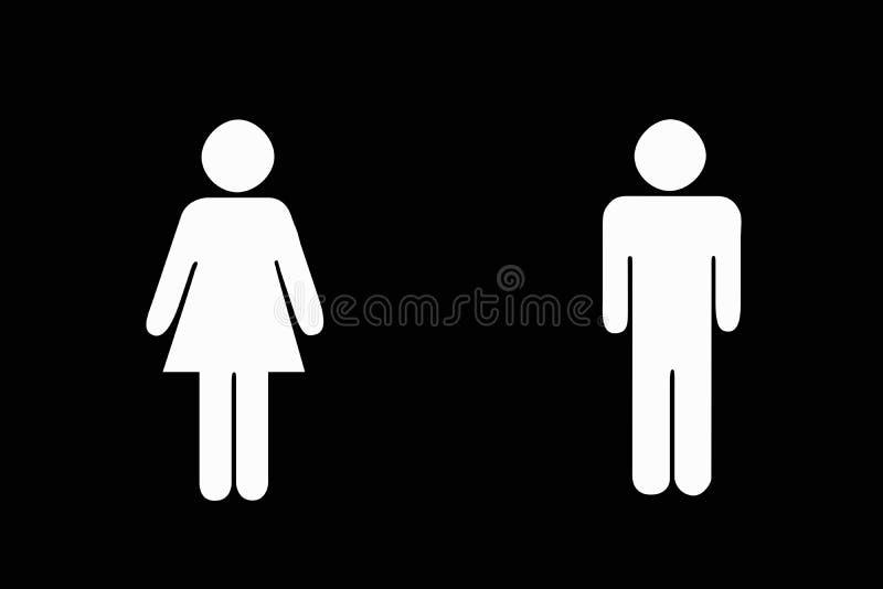 żeńska samiec ilustracji