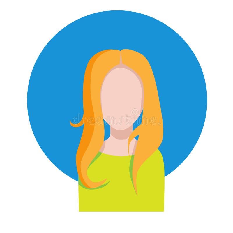 Żeńska twarz Europejska dziewczyna niebieski obraz nieba tęczową chmura wektora ilustracji