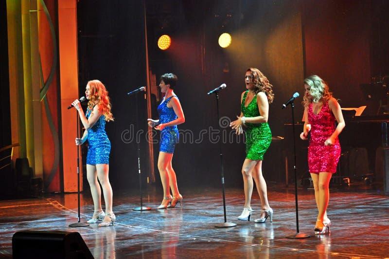 Żeńska wokalnie grupa zdjęcie royalty free