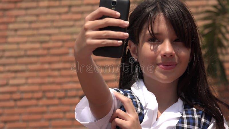 Żeński dziecko Selfie fotografia stock