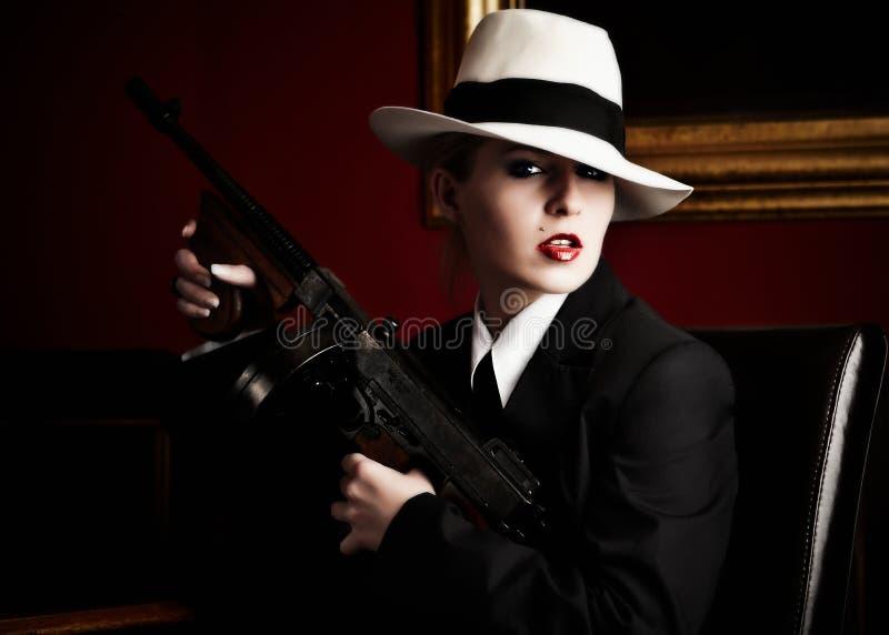 żeński gangster zdjęcie royalty free