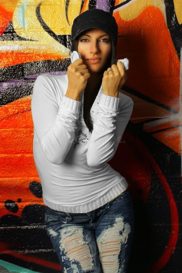 żeński hip hop zdjęcia stock