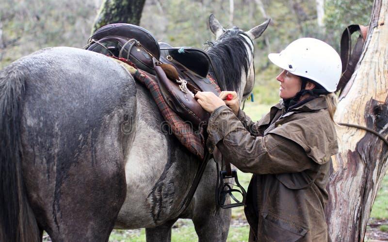żeński jeździec zdjęcia royalty free