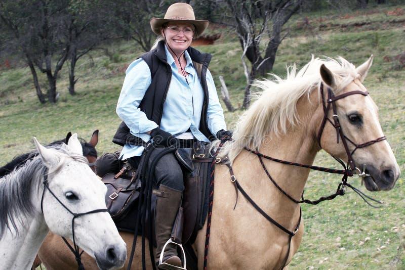 żeński jeździec obraz stock