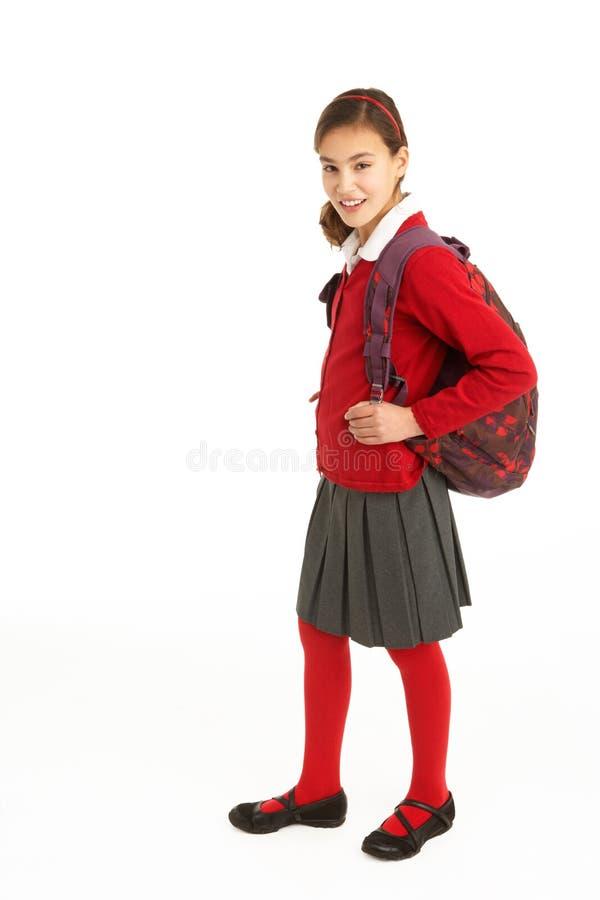żeński portreta ucznia mundur fotografia royalty free