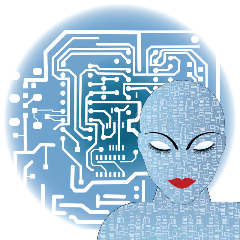 żeński robot ilustracji