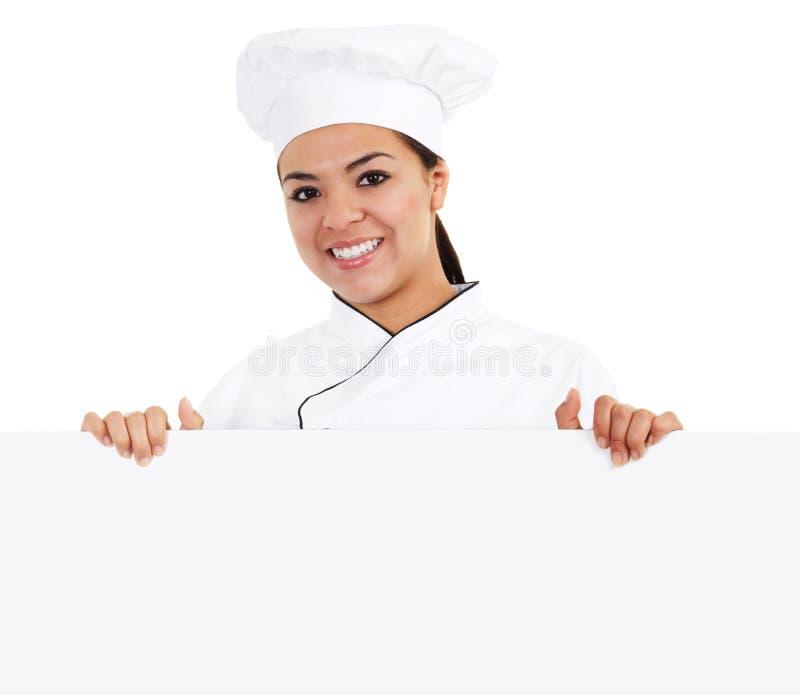 Żeński Szef kuchni zdjęcie royalty free