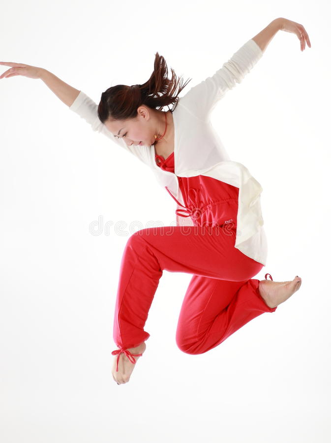 Żeński tancerz fotografia royalty free