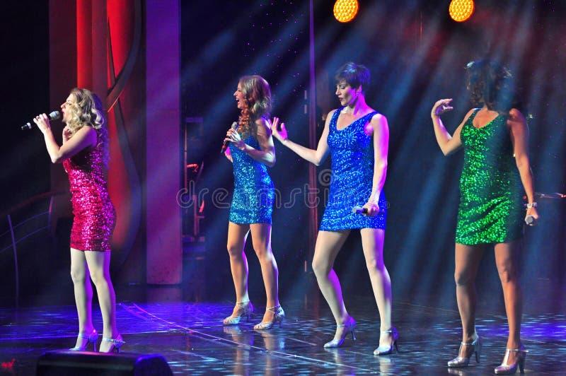 Żeńskich piosenkarzów grupa zdjęcia royalty free