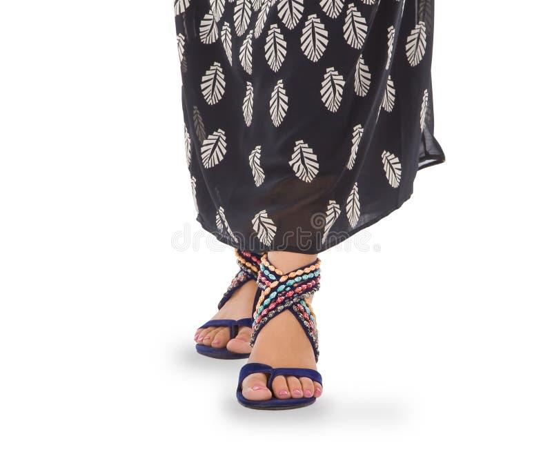 żeńskie nogi tęsk sandały seksowni zdjęcia royalty free