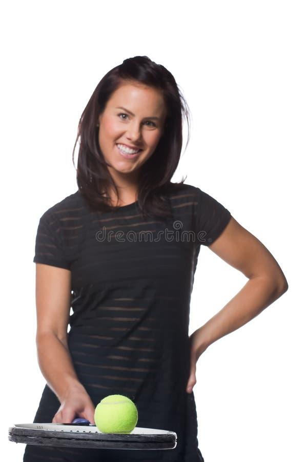 żeńskiego gracza ładny tenis zdjęcia stock