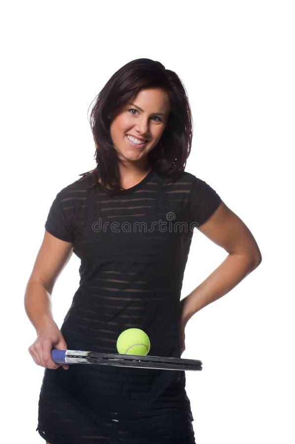 żeńskiego gracza ładny tenis zdjęcia royalty free
