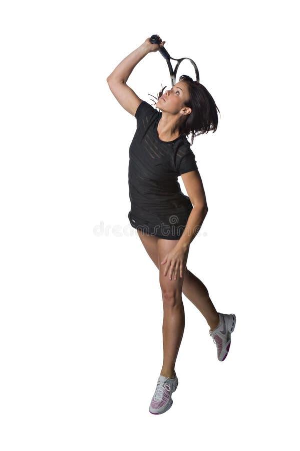 żeńskiego gracza ładny tenis zdjęcie royalty free