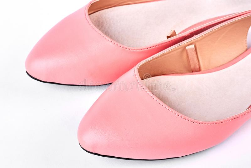 Żeńskiego lata rzemienni buty obraz royalty free