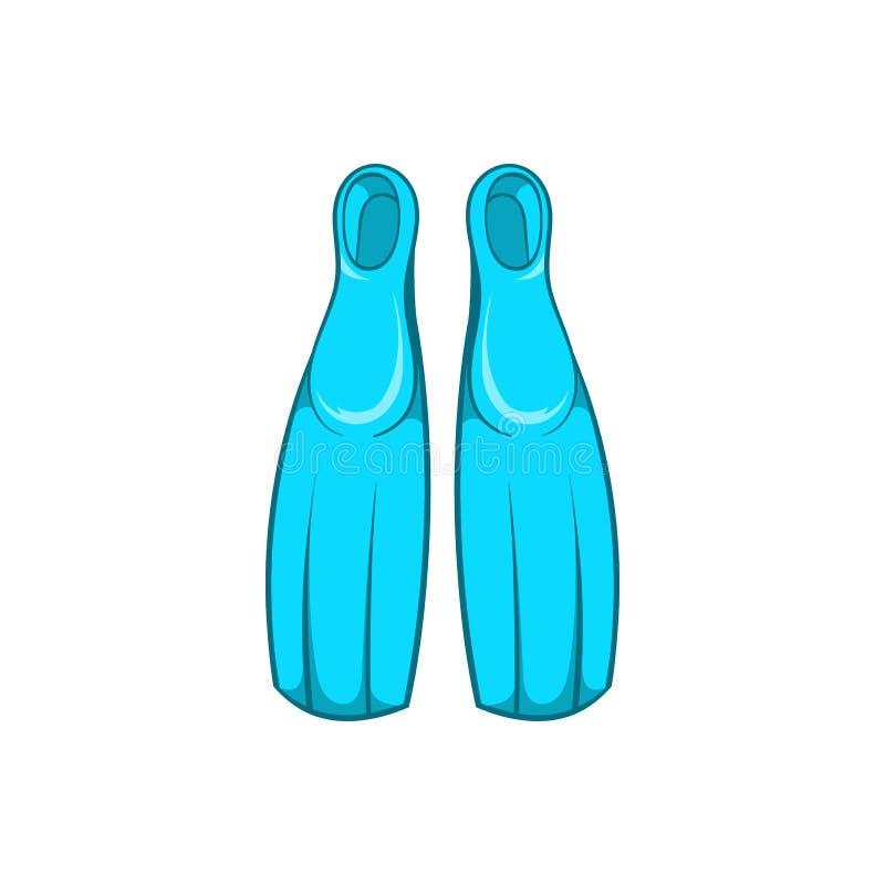 Żebra dla nurkowej ikony, kreskówka styl ilustracja wektor