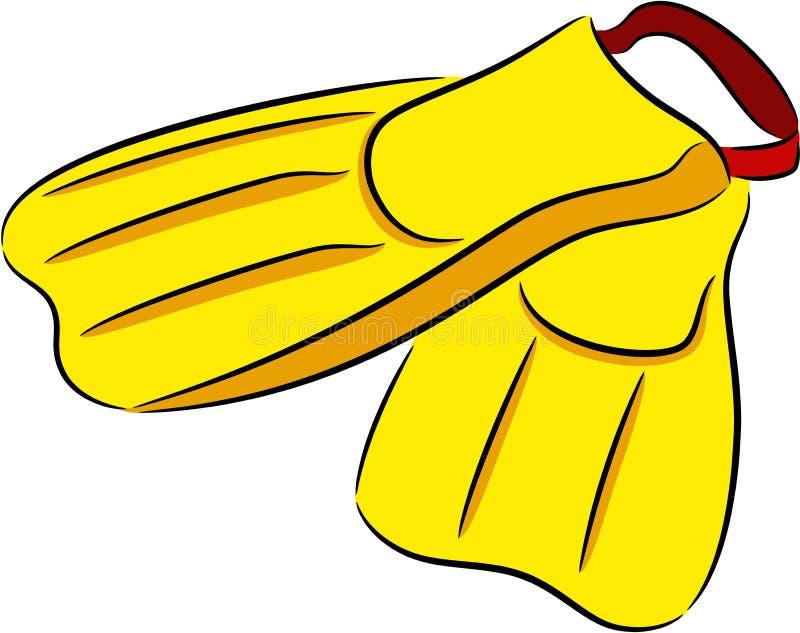 Żebra lub flippers dla nurkować ilustracja wektor